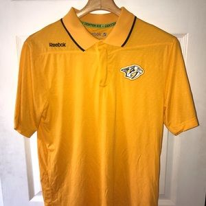 Nashville Predators Reebok Polo S Center Ice